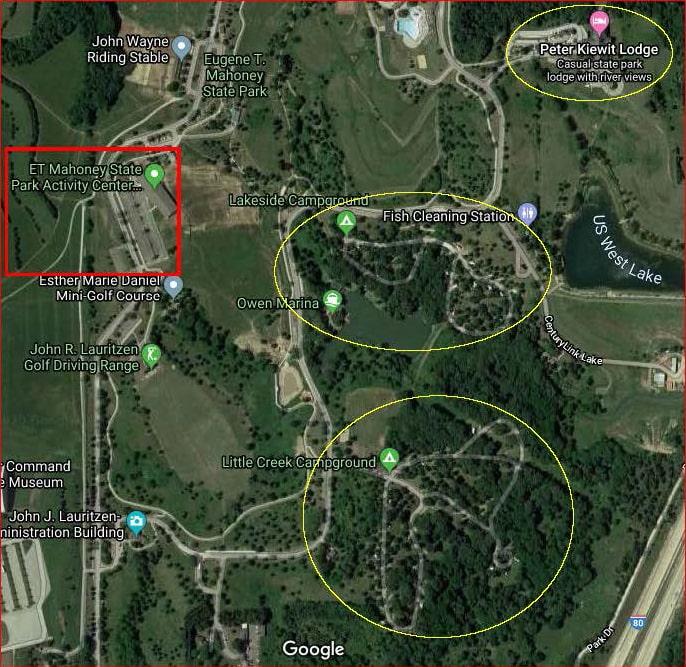 Map - Eugene T. Mahoney State Park