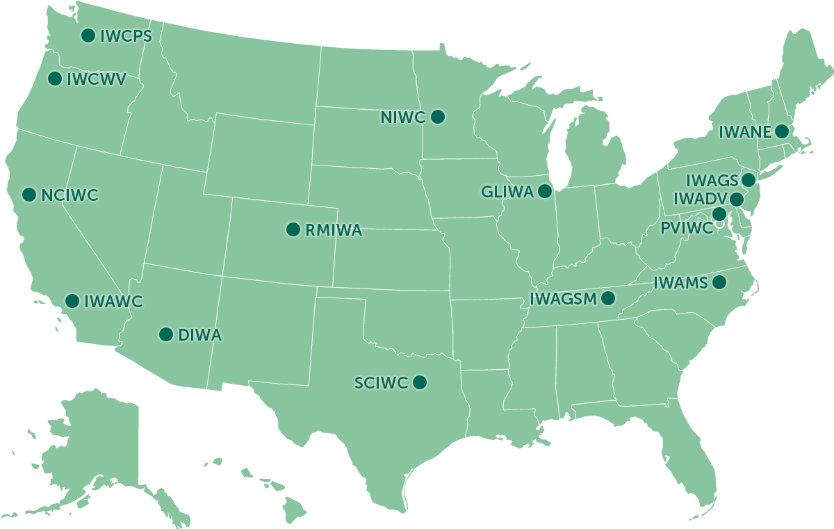 Map of Regional and Local Irish Wolfhound Clubs